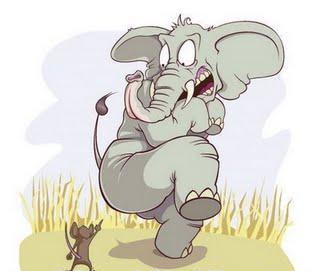 elefante y el raton