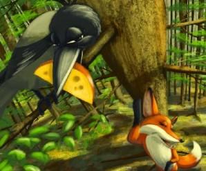 Cuento Infantil: El cuervo y el zorro (Version Corta)